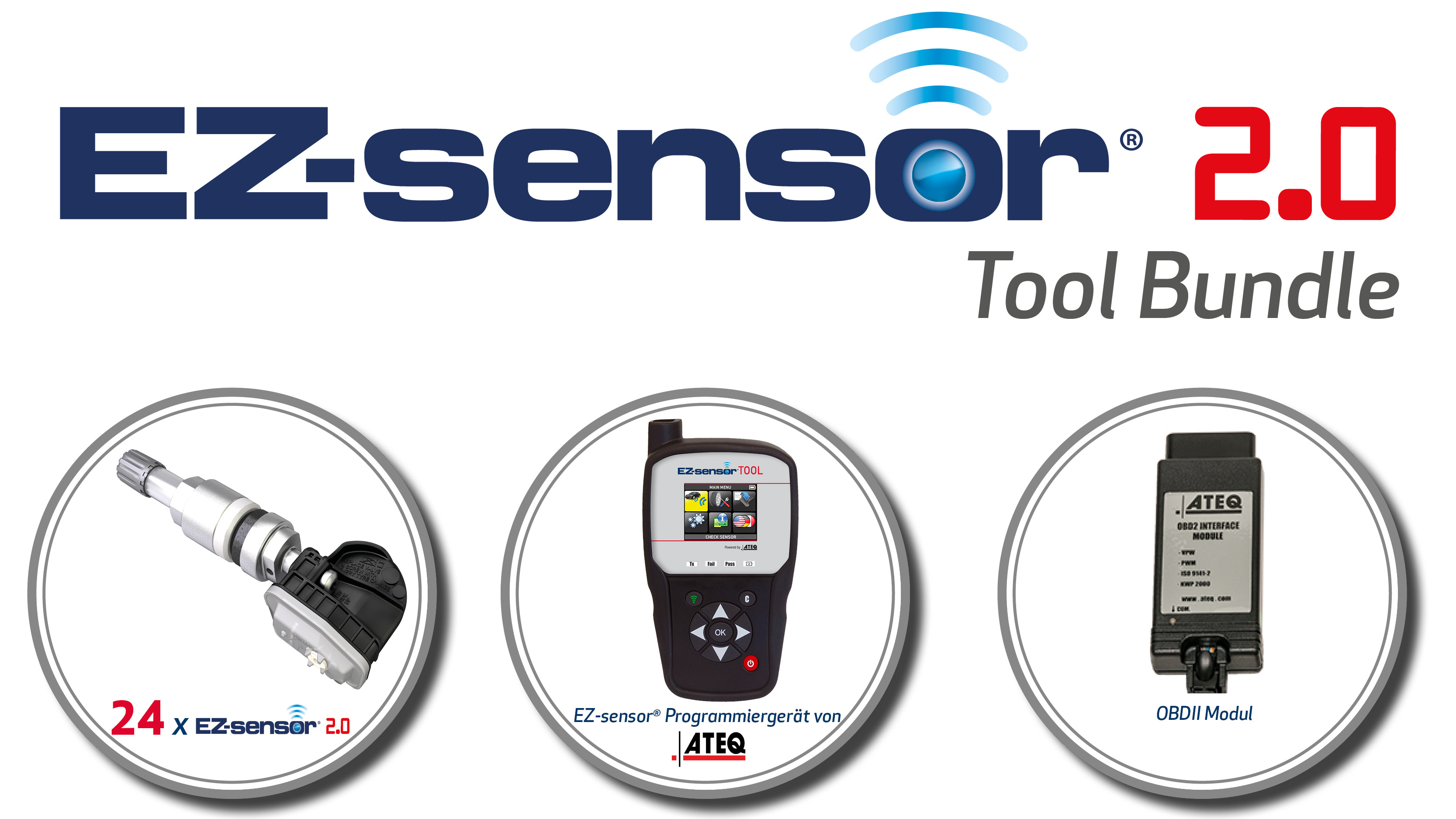ATEQ VT46 programming tool and EZ-sensor bundle